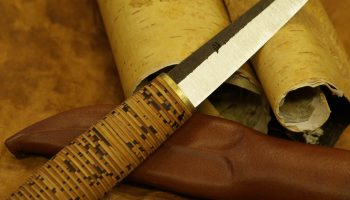 KOIVUMÄKI SHEATH KNIFE WITH A BIRCH BARK END