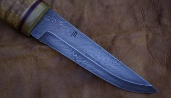 Damascus sheath blade